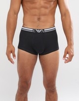 Emporio Armani Trunks With Large Logo In Black