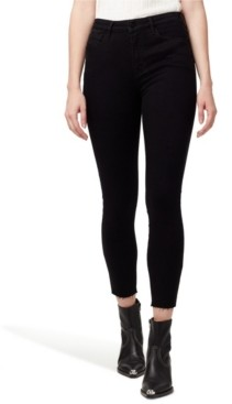 Sanctuary Social Standard High Rise Skinny Ankle Jeans with Raw Hem