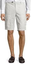 Brunello Cucinelli Cotton Cargo Shorts, Neutral