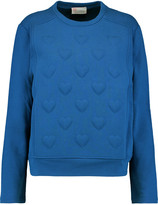 RED Valentino Embossed cotton-jersey sweatshirt