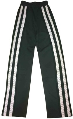 Wales Bonner Green Cloth Trousers for Women