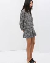 Zara Printed Mermaid Skirt