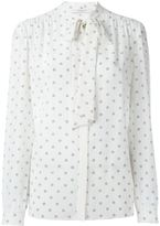 Givenchy star print pussy bow blouse