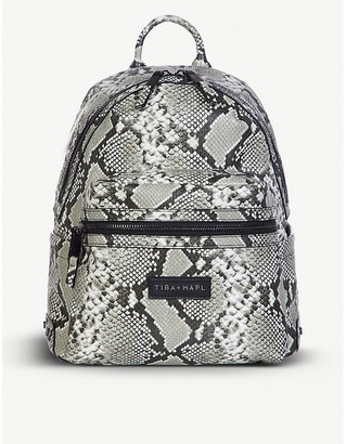 Tiba + Marl Miller snake print backpack