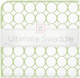 Swaddle Designs Ultimate Receiving Blanket - Kiwi Mod Circles