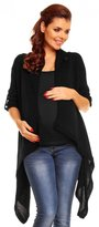 Zeta Ville Womens Maternity Waterfall Knit Coat Wrap Monochrome Cardigan - 349c (, 8/12)