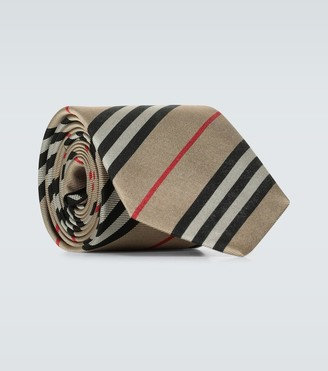 Burberry Monston striped silk tie