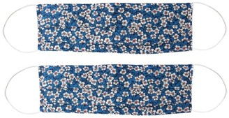 Rumour London Pack Of 2 Silk Face Masks With Integrated Filter In Liberty Fabric In Small Floral Print