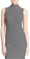 ATM Anthony Thomas Melillo Stripe Mock Neck Tank