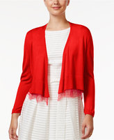 Tommy Hilfiger Lace-Trim Shrug Cardigan