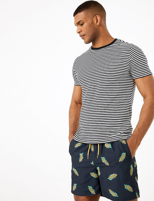 Marks and Spencer Quick Dry Corn Print Swim Shorts