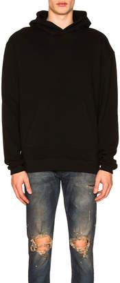 John Elliott Oversized Cropped Hoodie in Black | FWRD
