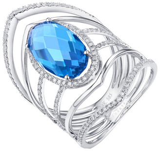 Diana M 14K 5.91 Ct. Tw. Diamond & Topaz Ring
