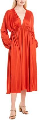 The Row Sasha Silk-Blend Midi Dress