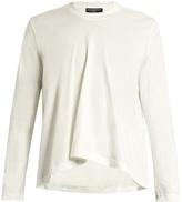 Balenciaga Long-sleeved Fluted Cotton T-shirt