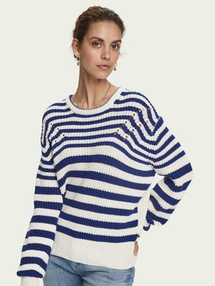 Scotch & Soda Cotton-blend chunky knit long sleeve sweater | Women