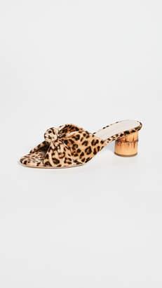 Loeffler Randall Celeste Mid Heel Knot Slide Sandals