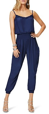 Ramy Brook Cohen Smocked Waist Jumpsuit