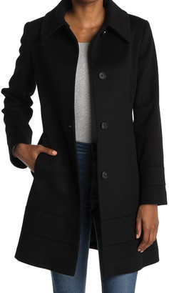 Fleurette Club Collar Wool Coat