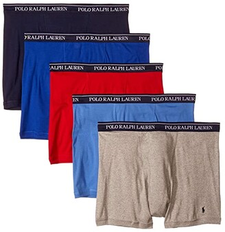 Polo Ralph Lauren Classic Fit w/ Wicking Boxer Brief 5-Pack (Andover Heather/Aerial Blue/Rugby Royal/RL2000 Red/Cruise Navy) Men's Underwear