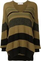 Thumbnail for your product : Proenza Schouler White Label horizontal-stripe V-neck jumper