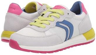 Geox Kids Alben 5 (Little Kid/Big Kid) (Light Blue/Fuchsia) Girl's Shoes