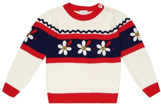 Gucci Kids Embroidered cotton sweater
