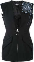 Pihakapi - slim waistcoat - women - Polyester/Cupro/Wool - 40