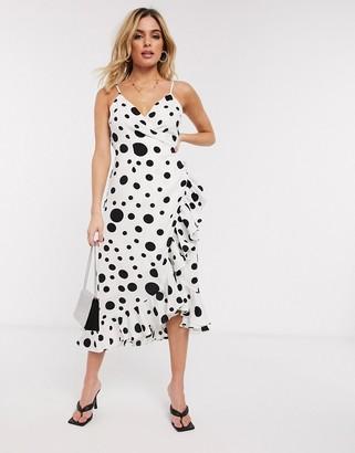 Forever U poka dot print dress
