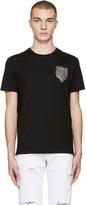 Versus Black Lion Patch T-shirt