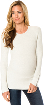 A Pea in the Pod Zipper Detail Maternity Sweater
