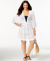 Dotti Plus Size Laser-Cutout Cover-Up