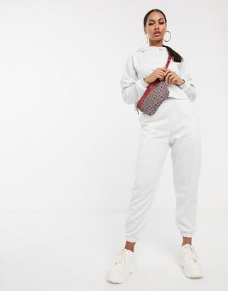 Asos Design DESIGN co-ord oversized jogger-White