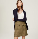 LOFT Linen Safari Skirt