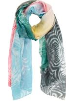 Furla Toni Freddi Paint Print Silk-Chiffon Scarf