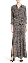 L'Agence Women's Silk Maxi Shirtdress