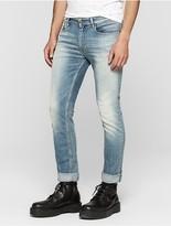 Calvin Klein Jeans Slim Straight Destructed Selvedge Jeans