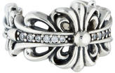 Chrome Hearts Diamond Fleur de Lis Ring
