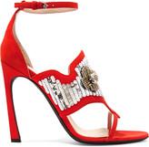 Giambattista Valli Embellished suede sandals