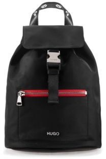 HUGO BOSS Nylon-gabardine backpack with contrast zip detail
