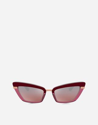 Dolce & Gabbana Half Print Sunglasses