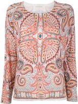 Etro fine knit paisley print jumper