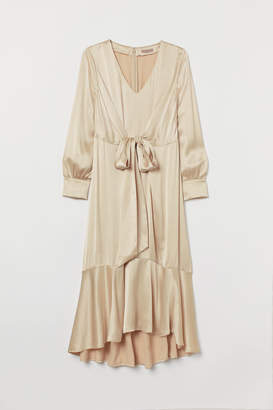 H&M H&M+ Satin Dress - Beige