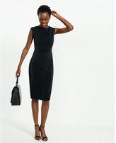 Express black zip back sleeveless dress