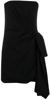 Saint Laurent Side-Tie Strapless Dress