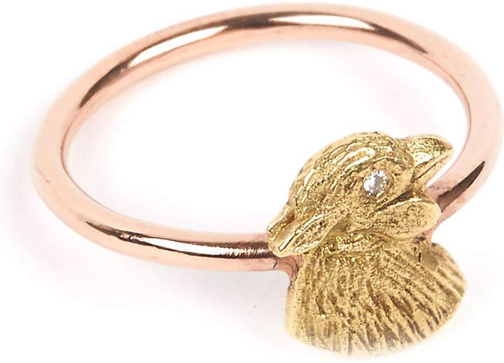 Annina Vogel 9 carat rose gold and diamond chick ring