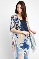 Elizabeth Gillett Multi Floral Pattern Kimono