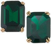 Trina Turk Gold-Tone Green Stone Stud Earrings