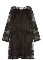 See by Chloe Floral-mesh long-sleeved dress