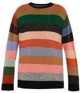 The Elder Statesman - Super Duper Crewneck Cashmere Sweater - Mens - Multi